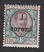 Italian Occupation Of Austria, Scott #N74, Mint Hinged, Italian Stamp Surcharged, Issued 1919 - 8. WW I Occupation