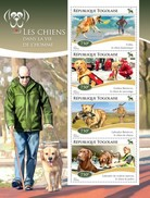 TOGO 2014 SHEET DOGS IN HUMANS LIFE CHIENS PERROS HUNDEN CANI CAES Tg14710a - Togo (1960-...)