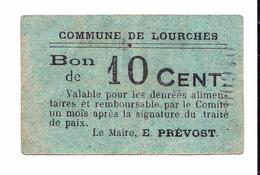 BON De 10c COMMUNE DE LOURCHES 14-18 - Bons & Nécessité