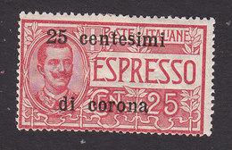 Italian Occupation Of Austria, Scott #NE2, Mint Hinged, Italian Stamp Surcharged, Issued 1919 - 8. WW I Occupation