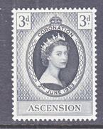 ASCENSION  61  *   QE II  CORONATION  1953 - Ascension
