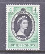 BRITISH  HONDURAS  143  *   QE II  CORONATION  1953 - British Honduras (...-1970)