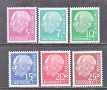 GERMANY  Mi.  179 Y -86 Y  *  FLOR.  PAPER - Unused Stamps