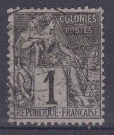 France Colonies General Issues 1881 Yvert#46 Used - Alphée Dubois