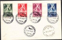 Yugoslavia Kingdom 1938 Mi#354-357 FDC First Day Cancel Cover - 1931-1941 Königreich Jugoslawien