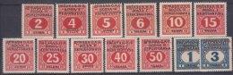 Yugoslavia, Kingdom SHS, Issues For Bosnia 1918 Porto Mi#1-13 Mint Hinged - Nuovi