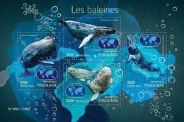 TOGO 2015 SHEET WHALES BALEINES BALLENAS BALENE WALEN BALEIAS MARINE LIFE Tg15422a - Togo (1960-...)