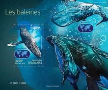 TOGO 2015 SHEET WHALES BALEINES BALLENAS BALENE WALEN BALEIAS MARINE LIFE Tg15422b - Togo (1960-...)
