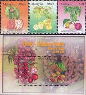 Malaysia 2006 S#1083-1086 Rare Fruits Set+M/S MNH Flora Fruit - Malaysia (1964-...)