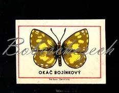 44-138 CZECHOSLOVAKIA 1968  Butterfly Papillon Lepidoptera Melanargia Galathea Melanargia Galathea - Matchbox Labels