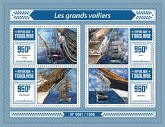 TOGO 2015 SHEET SAILING SHIPS BATEUAX A VOILE BOTES BARCOS DE VELA VOILIERS VELEROS Tg15614a - Togo (1960-...)