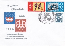 Germany Cover 2001 Stuttgart 25 Years German Medal Winners From Montreal Olympic Summer Games  (T16-29)