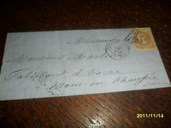 SOMME - TP N° 28++IND/2   -OBL/ PERONNE Pour MONS EN CHAUSSEE - 3 Photos - Poststempel (Briefe)