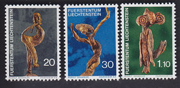 Liechtenstein. Sculptures Sur Bois: Faune 513. Danseuse 514. Hibou 515