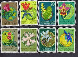 Liechtenstein. Fleurs 469/476
