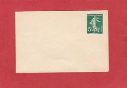 Entier Postal - Enveloppe Semeuse Camée 5 Centimes Vert (107 X 70m/m) (Date: 225)