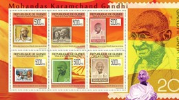 GUINEA 2009 SHEET GANDHI PRIX NOBEL PRIZE STAMPS ON STAMPS DANS LES TIMBRES Gu0973a - República De Guinea (1958-...)