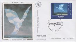 Enveloppe  FDC   1er Jour    BELGIQUE    Oeuvre  De  René  MAGRITTE   1998 - 1991-00