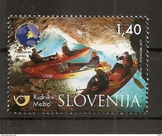 SLOVENIA,SLOWENIEN 2017,TURISMUS,UNDER MOUNT PECA BY TRAIN,ON FOOT,BY BIKE AND BY KAYAK,MNH - Slowenien