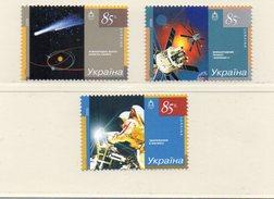 UKRAINE / DEEP IMPACT Espace Série 3 Valeurs Dentelées Neuves MNH Vente 1.00 Euros