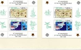 CHYPRE ZONE TURQUE / EUROPA 50 ANS Espace 2 Blocs Dentelés Et ND Neufs MNH Cote 24.00 Vente 8.00 Euros