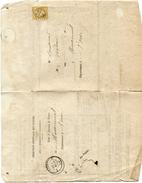 OISE De MACHEMONT GC 2150 Sur N°21 Sur Avis Reception Chargement Du 05/03/1865 - 1849-1876: Période Classique