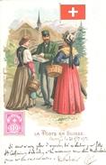 (27) CPA  Timbres  La Poste En Suisse 1901 (bon Etat) - Timbres (représentations)