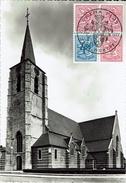 Mortsel - Prentkaart Met Zegels En Stempel 1977 - Kerk St. Benedictus. - Mortsel