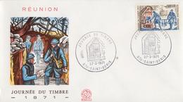 Enveloppe  FDC  1er  Jour     REUNION      JOURNEE  Du  TIMBRE       SAINT  DENIS    1971