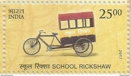 MNH Stamps,Means Of Transport Through Ages, School Rickshaw Mint India 2017,
