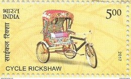 MNH Stamps,Means Of Transport Through Ages, Cycle Rickshaw Mint India 2017,