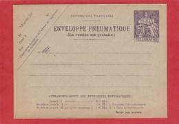 Entier Postal -Enveloppe Pneumatique - Chaplain 60 Centimes