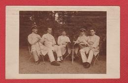 Carte Photo -- Soldats Allemands Au  Lazarett Herrenburg - Weltkrieg 1914-18