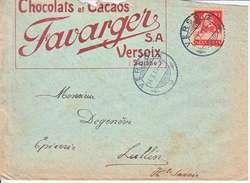 TELL - LOGO PRIVE - CHOCOLAT FAVARGER SA -VERSOIX - 1915 - Suiza