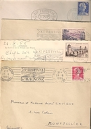 Festival D'Avignon:du 9eme Au 12eme - Postmark Collection (Covers)