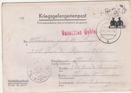 Coude à Coude - Sur Formule Stalag II B 1941 Prisonniers - Coté Dans Catalogue Sinais Des Entier De France - 2. Weltkrieg 1939-1945