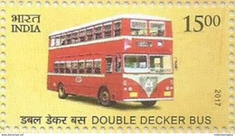MNH Stamps,Means Of Transport Through Ages, Double Decker Bus, Mint India 2017,