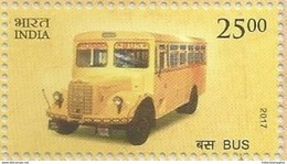 MNH Stamps,Means Of Transport Through Ages, Bus, School Bus Mint India 2017,