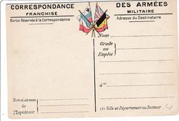 CPFM 1914 Série Cartes Du Front - N°3 Aisne & Oise - Laon Reims Soissons Compiègne Chalons Epernay - 2 Scans - Marcophilie (Lettres)