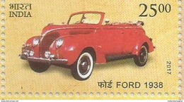 MNH Stamps,Means Of Transport Through Ages, Ford 1938, Vintage Car, Mint India 2017,