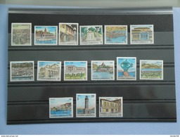 Grèce 1990 Yvert 1740/54B ** Definitives Scott 1685B/99B  Michel  1749/63 SG  1848B/62B Villes De Préfectures - Grèce