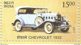 MNH Stamps,Means Of Transport Through Ages, Chevrolet 1932, Vintage Car Mint India 2017,