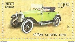 MNH Stamps,Means Of Transport Through Ages, Austin 1926, Vintage Car Mint India 2017,