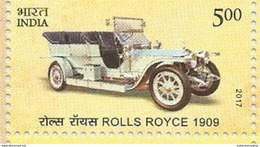 MNH Stamps,Means Of Transport Through Ages, Rolls Royce 1909, Vintage Car Mint India 2017,