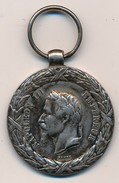 Médaille En Argent Napoléon Lll De La Campagne D'Italie 1859 - Ante 1871