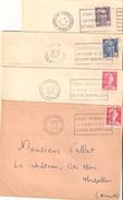 Montpellier : Foire Intrenationale De La Vigne Et Du Vin 4lettres De1953 à 1956 - Postmark Collection (Covers)