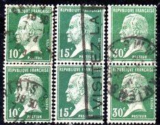 R1888 - FRANCIA 1923, Unificato N. 170+171+174  Usati: Tre Coppiole . Pasteur - 1922-26 Pasteur