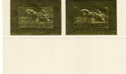 DAVAAR ISLAND (ECOSSE ) / APOLLO SOYOUZ ASTP Espace 2 Valeurs OR Dentelées Neuves MNH  Vente 7.00 Euros - Espacio