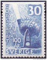 ZWEDEN 1958 30öre Driezijdig Getand 100 Jaar Staal PF-MNH