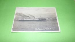 Genova , 610 Vap Conte Rosso,, No Circolata ,,1940-45,cartolina ,,barche Nave - Traghetti